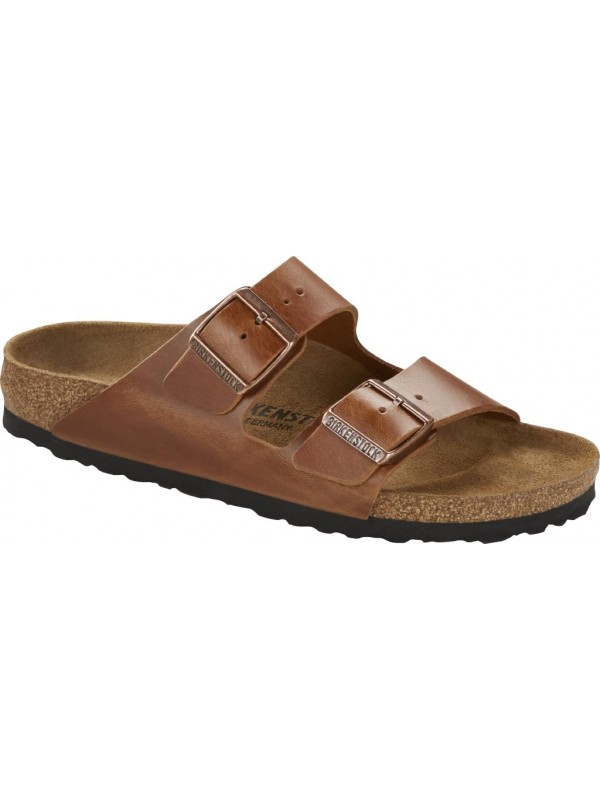BIRKENSTOCK ARIZONA ANTIQUE BROWN OILED LEATHER 40