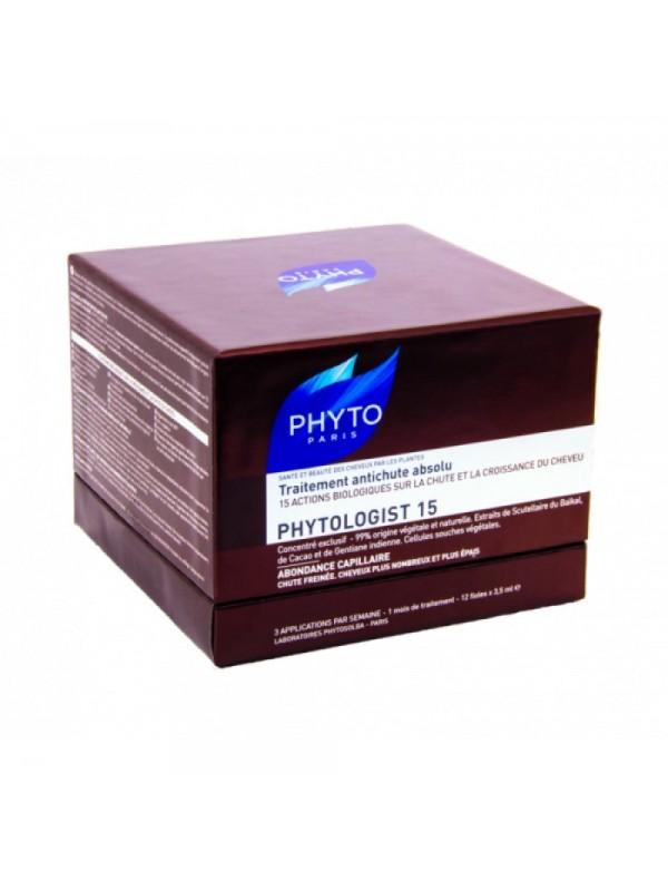 COFFRET SISTEMA PHYTOLOGIST Trattamento Anticaduta composto da 90 capsule, 12 fiale da 3,5 ml e Shampoo Phytologist 15