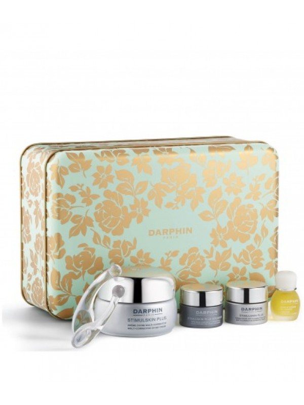 Darphin STIMULSKIN PLUS Crema 50 ml + Stimulski Eye 5 ml + Stimulskin Plus Mask 5 ml + 8 Flower Essential 4 ml  Cofanetto Natale 2019 Beauty Box