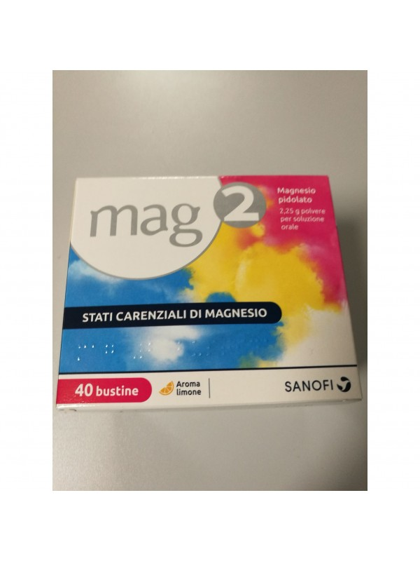 MAG 2 Magnesio 40 Bustine 2,25 grammi Polvere per Soluzione Orale