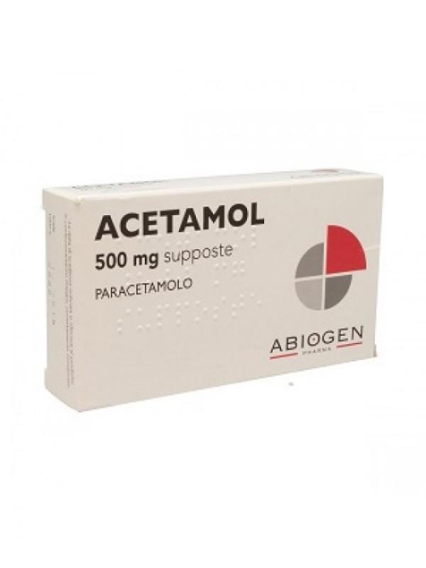 ACETAMOL*10 Supp.Bamb.500mg