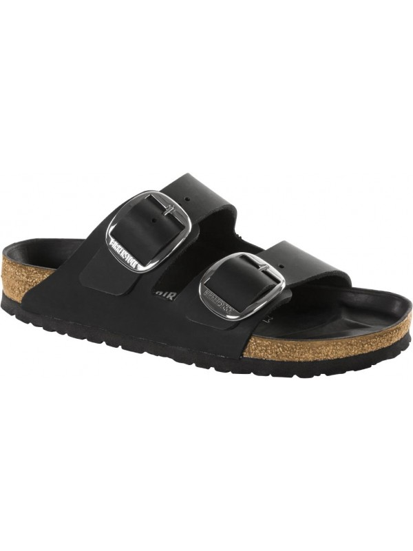 BIRKENSTOCK ARIZONA BIG BUCKLE BLACK OILED LEATHER 38