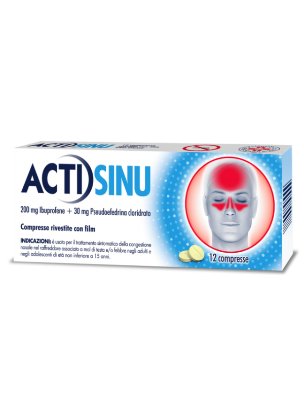 ACTISINU 200+30mg 12 Cpr