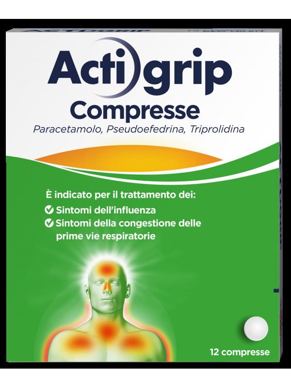 ACTIGRIP 12 Cpr 2,5+60+500mg