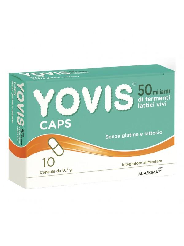 YOVIS caps - Integratore per l'equilibrio della flora intestinale - 10 capsule